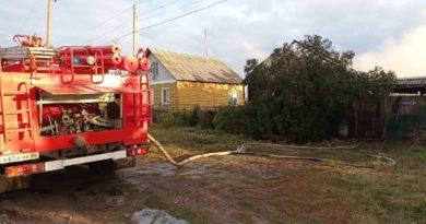 Пожар в с. Курьи на улице Красных Орлов