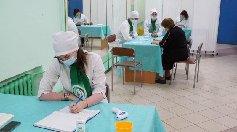 В понедельник,20 сентября,во Дворце культуры «Кристалл» начал работу выездной пункт вакцинации от гриппа