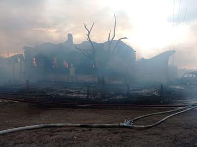 сгорел дом в с. Маханово